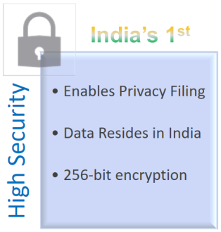 High Security Tax Filing with EZTax Inda