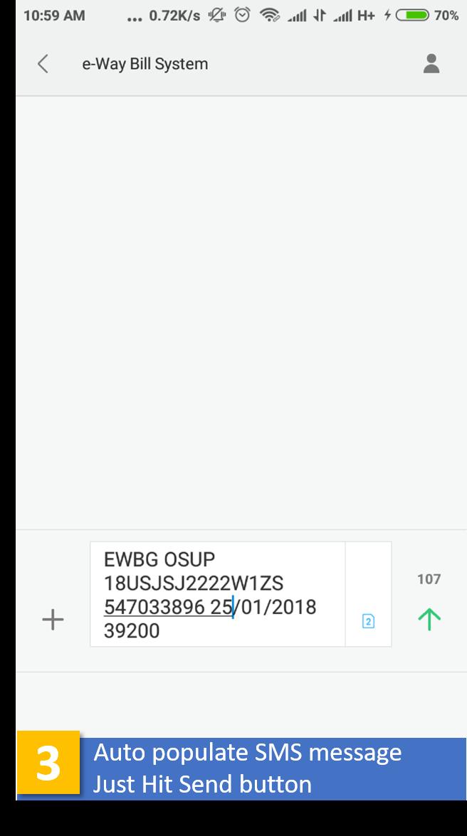 e-Way Bill Step-3 in EZTax.in GST Accounting