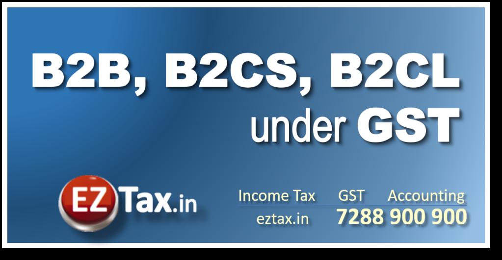 Different Invoices B2B B2CS B2CL under GST | EZTax.in